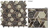 Glazzio Tiles Marble & Glass Mosaic Tranquil Hexagon Capitol Archive TS953