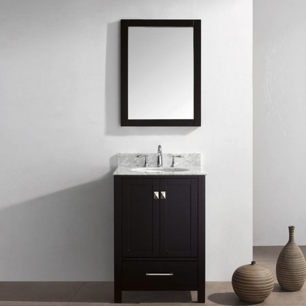 "SognareCaroline Espresso 24"" Grey Vanity (call us for currents promotions and discounts)"