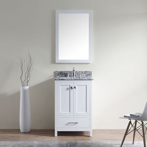 "SognareCaroline Madison 24"" White Vanity (call us for currents promotions and discounts)"