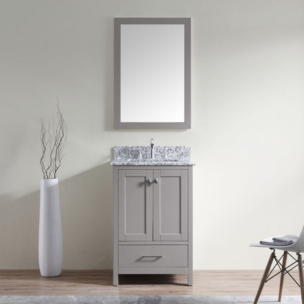 "SognareCaroline Madison 24"" Grey Vanity (call us for currents promotions and discounts)"