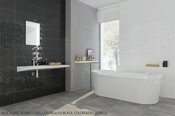 SD Color Gloss Fields Textured Grid Porcelain Wall Tile ...