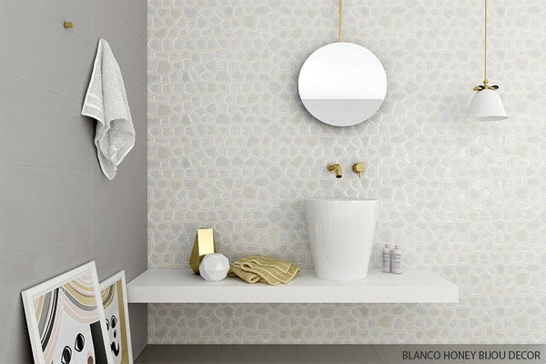 Sd Color Gloss Fields Textured Honeycomb Porcelain Wall
