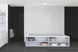 SD Color Gloss Fields Textured Wavy Porcelain Wall Tile 10x30