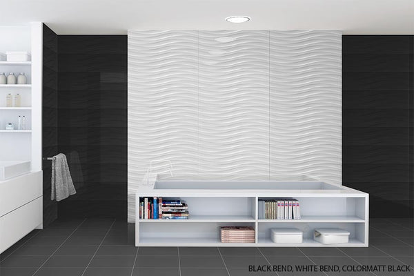 Sd Color Gloss Fields Textured Wavy Porcelain Wall Tile