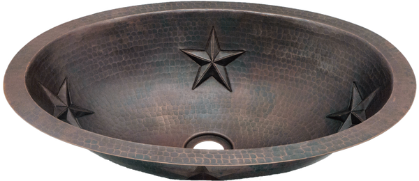 Hammered Oval Stars Sink