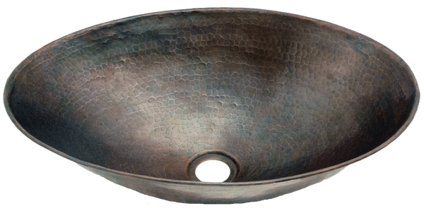 Hammered Oval Vessel Sink