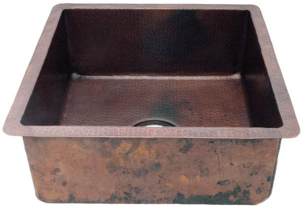 Hammered Square Straight Sides Sink