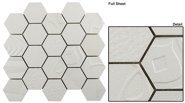 "GT Carnival Series Hexagon 3"" Mosaic (may qualify for free shipping)"