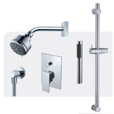 Fluid Jovian Shower with handheld Trim Package F2154T CP