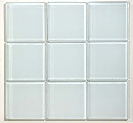 GT White Glass 4x4 Mosaic (may qualify for free shipping)