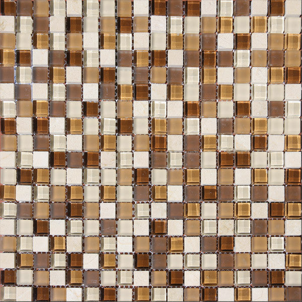 Malla Beige District Glass Mosaic
