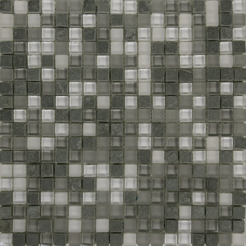 Malla District Gris Glass Mosaics