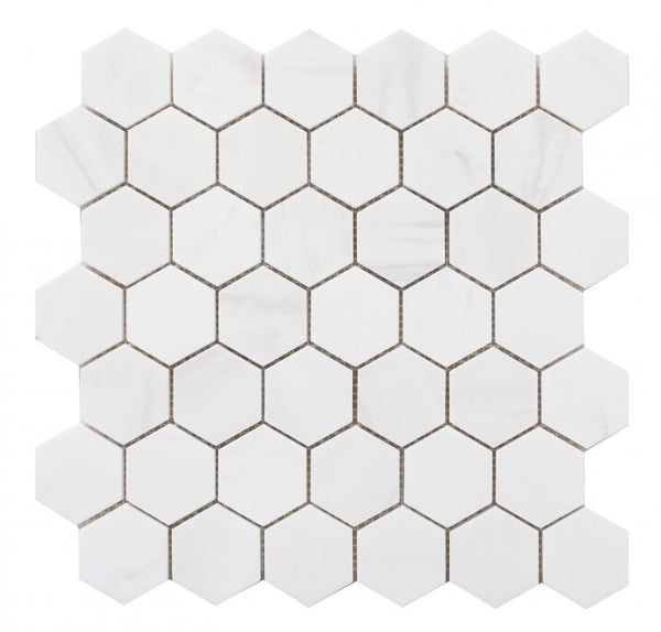 Elysium Hexagon Dolomite HONED
