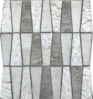 Tile Imagine Glass & Stone Trapezoid Mosaic Blend