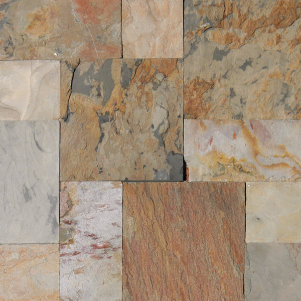 Indian Autumn Gauged Slate Tile Sognare Tile Stone