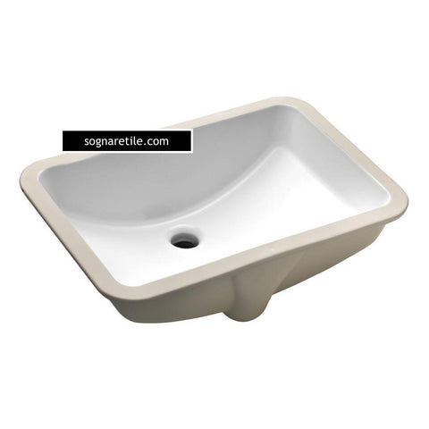 Sognare Undermount White Rectangular Porcelain Sink (free shipping)