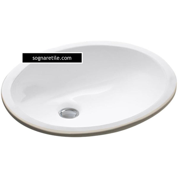 Undermount Porcelain Oval White Sink (free shipping)