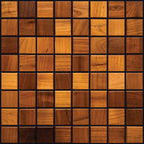 "Thermally Treated Bird Cherry Natural Wood Mosaics 13""x13"" Sheet (May qualify for free shipping)"