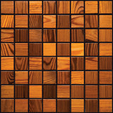 "Thermally Treated Pine Natural Wood Mosaics 13""x13"" Sheet (May qualify for free shipping)"