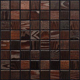 "Thermally Treated Ash Natural Wood Mosaics 13""x13"" Sheet (May qualify for free shipping)"