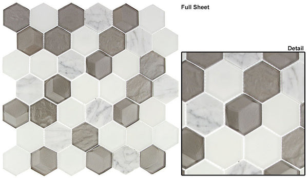 GT Queen's Lair Glass and Marble Mosaic Series (may qualify for free shipping)