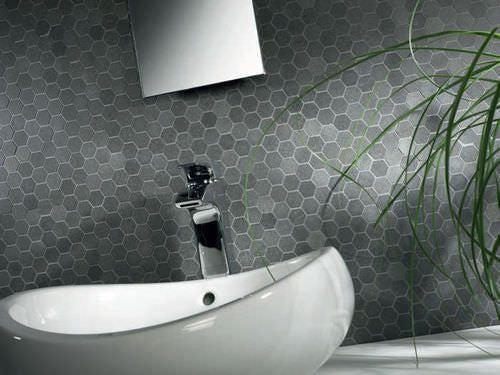 Royal Charcoal Grey 1x1 Hexagon Stone Mosaic Walls