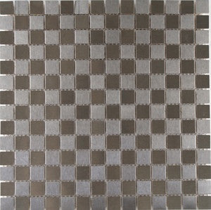 "Steel 3/4"" x 3/4"" Square Stainless Steel Mosaics"