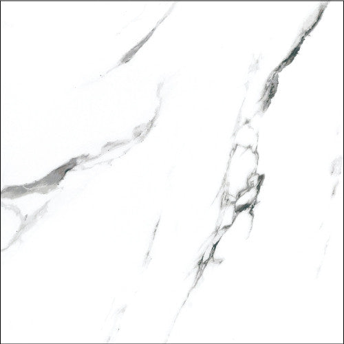 ELE Carrara Marble Look Statuario 24x24 Polished Finish Porcelain Tile