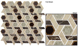 Glazzio Tiles Marble & Glass Mosaic Tranquil Hexagon Temple Inspiration TS956