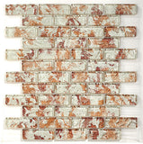Glazzio Tile Temptation Brick Mosaic TM02 raspberry freeze