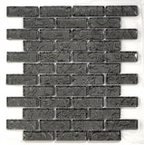 Glazzio Tile Temptation Brick Mosaic TM16 winter black