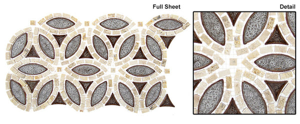 GT Tranquil Flower Series Marble Mosaics ((may qualify for free shipping))
