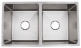 Urban Place Radial and Zero Edge Double Bowl Sink (50/50)