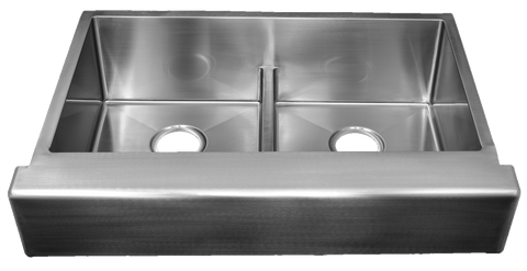 Urban Place Large Low-Divide Double Bowl Apron Sinks (50/50)