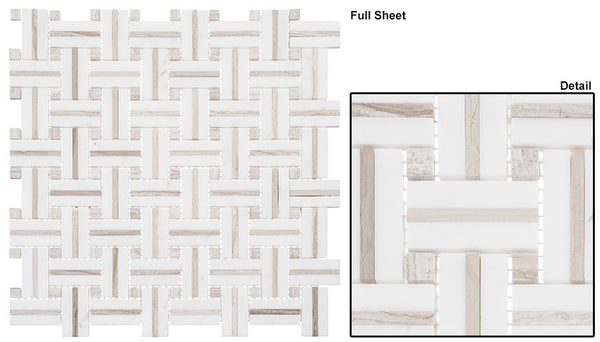 GT Ultra Weave Kalahari Dunes Marble Mosaic (may qualify for free shipping!)  UTW471