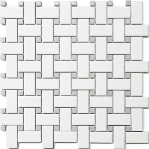 Royal White & Grey Basket Weave