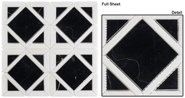 GT Wright Windows Onyx Night Marble Mosaics WRW105