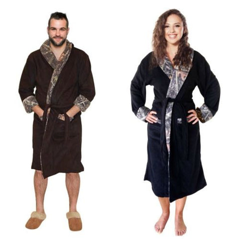 Camo Robe Bathrobe True Timber UNISEX Mens Womens Fleece Camouflage MEDIUM Adult