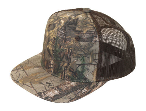 Realtree Camo Trucker Hat Meshback Snapback Cap with Wicking Band
