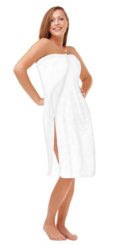 Resort Spa Wrap Womens & Queen Plus Size 1X - 6X Luxury Resort Cotton Velour Beauty