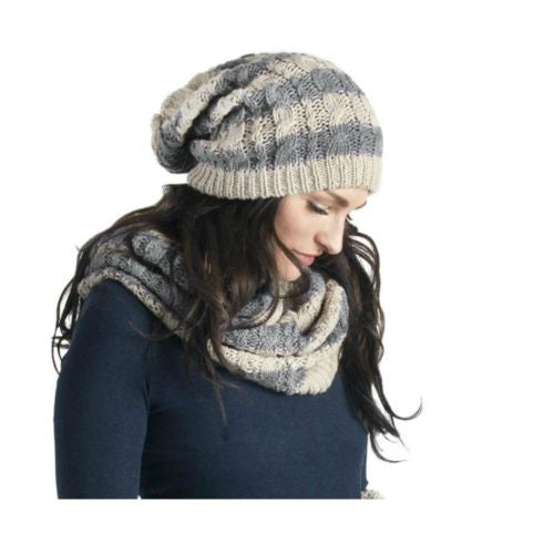 Muk Luks Women's Striped Funnel Scarf