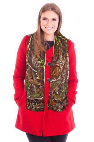 Realtree Fleece Scarf Ladies Mens Unisex Winter Fringe AP Camo Wrap Scarf 4 Coat