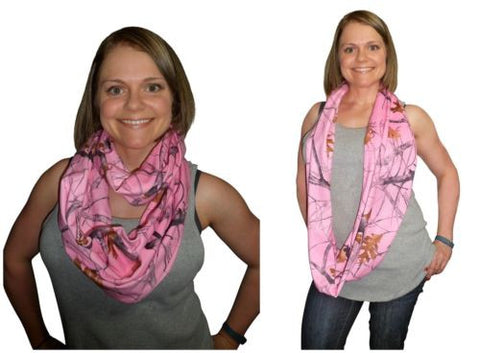 True Timber Pink Camo Infinity Scarf, Brushed Polyester Suede