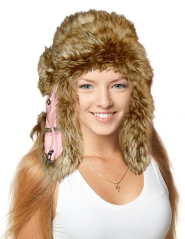 Mad Bomber Womens Realtree Pink Trapper Hat, Faux Fur, APC Pnk, M/L