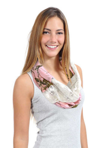 Realtree Pink Infinity Scarf Womens Realtree Girl Chloe Pink Camo Lace Eternity