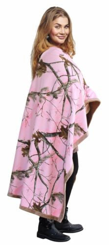 Pink Camo Blanket Realtree Faux Suede Country Girl's Christmas Valentines Gift