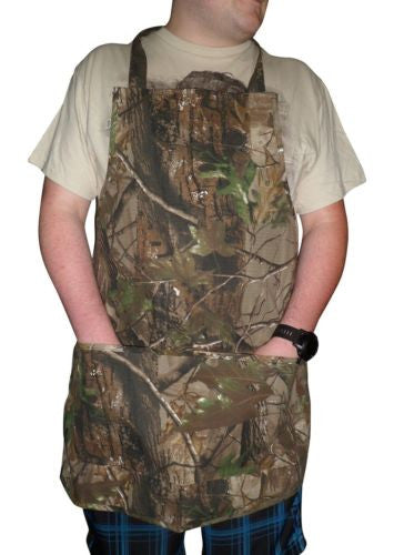 Realtree Men's Womens Twill Camo Kitchen Apron, RT APG, One Size