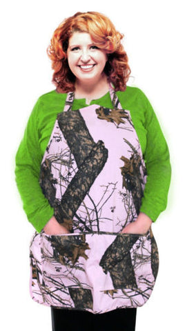Mossy Oak Pink Apron Realtree Max4 Break Up Country Duck Blind Hunter Camo Apron