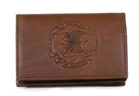 NRA ID Wallet Genuine Leather Vintage NIB National Rifle Asc Front Pocket Wallet