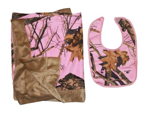Pink Camo Throw Faux Suede Blanket (INFANT 34x34, Mossy Oak PINK)